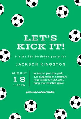 Soccer Birthday - Birthday Invitation