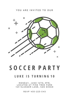 Soccer stars - Birthday Invitation