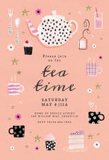 Tea Party - Party Invitation