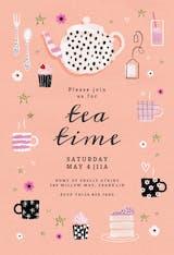 Tea Party - Party Invitation
