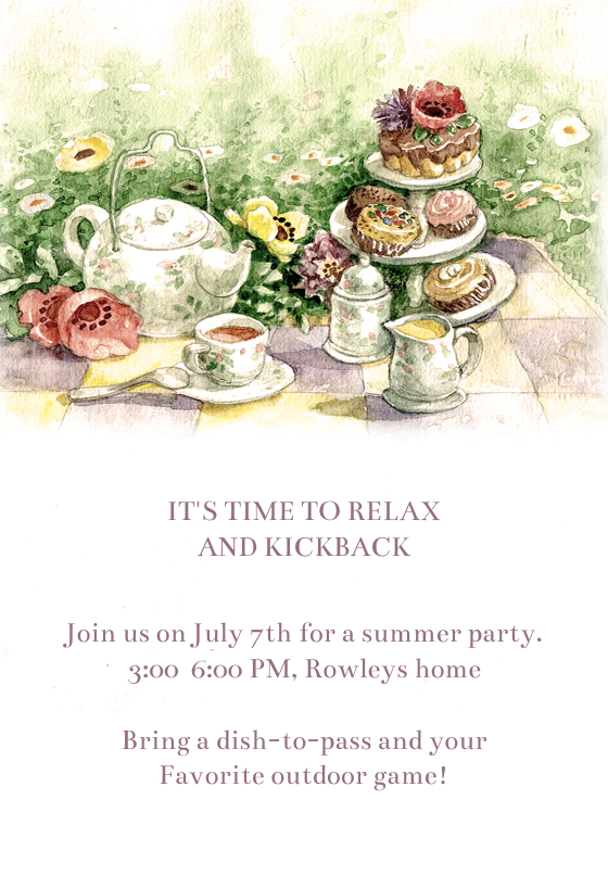 It is a graphic of Free Printable Tea Party Invitations inside afternoon tea