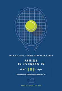 Tennis champ - sports & games Invitation
