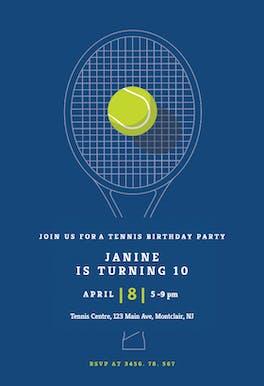 Tennis champ - sports & games Invitation