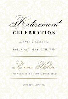 Free retirement farewell party invitation templates greetings dappled distinction stopboris Images