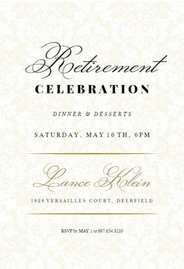 Dappled Distinction - Retirement & Farewell Party Invitation Template
