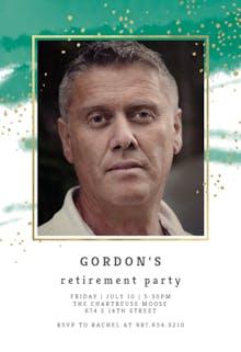 Fresh & Fancy - Retirement & Farewell Party Invitation