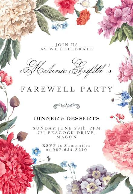 Retirement Farewell Party Invitation