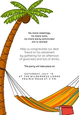 No More Meetings - Retirement & Farewell Party Invitation