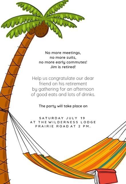 Invitaciones Para Jubilación Gratis Greetings Island