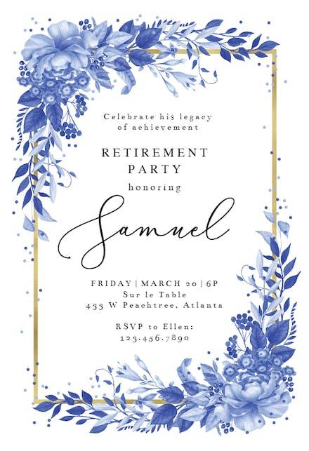 Retirement Farewell Party Invitation Templates Free Greetings Island
