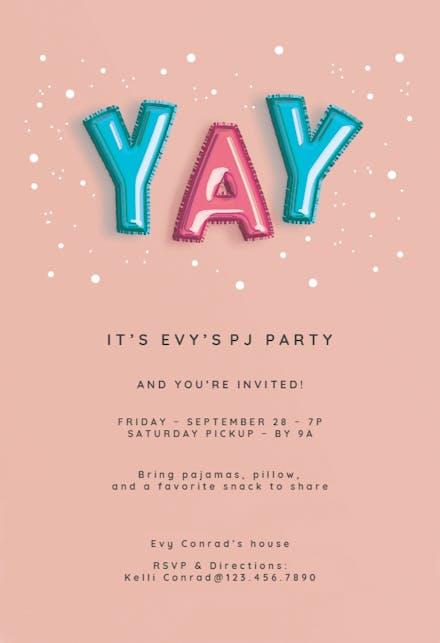 Spa Party Invitación Para Pijamadas Gratis Greetings Island