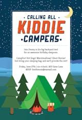 Kiddie Camping - Invitación Para Pijamadas