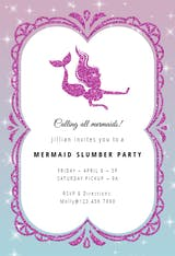 Mermaid Sparkle - Sleepover Party Invitation