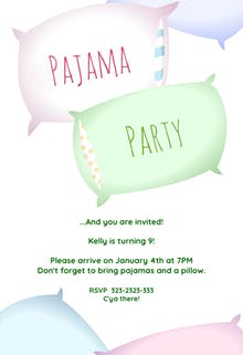 Sleepover Party - Invitación Para Pijamadas