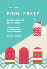 Chill Out - Pool Party Invitation