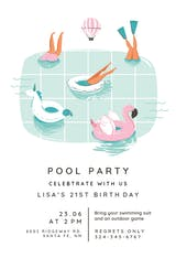 Chilling - Pool Party Invitation