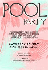 Fun in The Sun - Pool Party Invitation Template