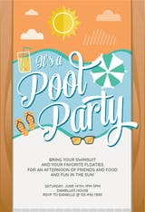 It's a Pool Party - Pool Party Invitation
