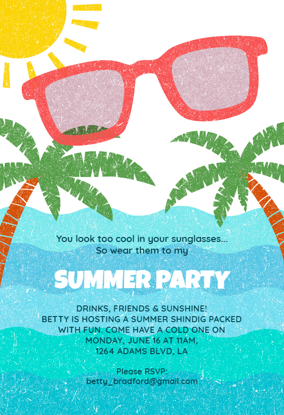 photograph about Free Printable Pool Party Invitations Templates identified as Pool Celebration Invitation Templates (Cost-free) Greetings Island