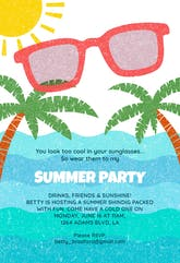 Looking Cool - Pool Party Invitation