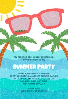 looking cool pool party invitation