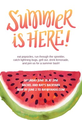 Summer Bash - Party Invitation