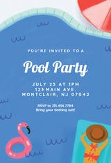Summer Mood - Pool Party Invitation