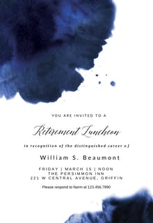 Blue Ink - Printable Party Invitation