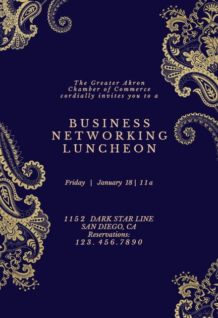 Business Event Invitation Templates (Free) | Greetings Island
