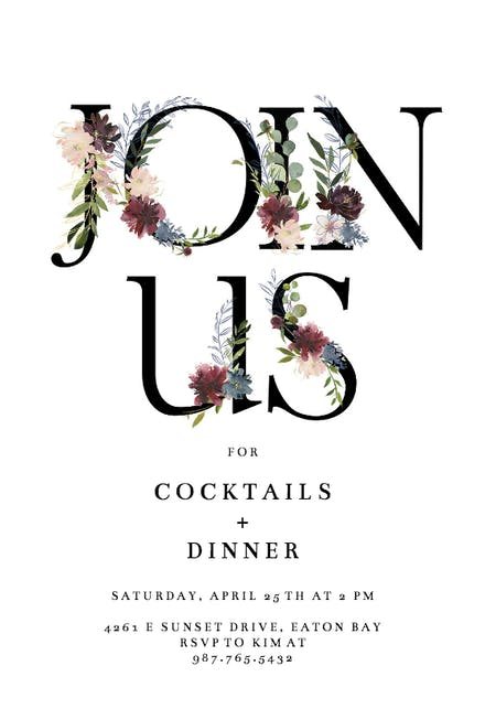 Dinner Party Invitation Templates (Free) | Greetings Island