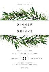 Winter Wreath - Professional Event Invitation