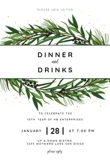 Winter Wreath - Cocktail Party Invitation