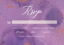 Abstract purple watercolor - RSVP card