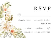 African Nature Frame - RSVP card