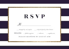 Anchor And Stripe - RSVP card