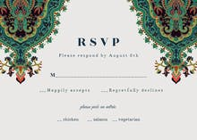 Arabian nights - RSVP card