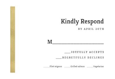 Asimetric stripe - Printable Response card Template