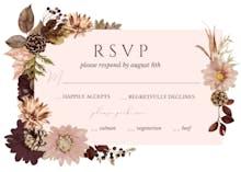 Autumn Celebration - RSVP card
