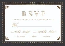 Black & Gold - RSVP card