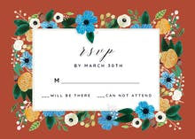 Blue & Orange - RSVP card