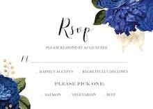 Blue Bouquets - Tarjeta De Confirmación De Asistencia A Eventos
