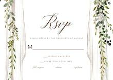 Boho canopy - RSVP card