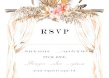 Boho Flowers Canopy - RSVP card