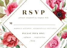 Boho Romance - RSVP card