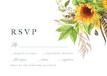 Boho sunflowers - RSVP card