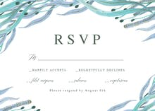 Botanical ocean - RSVP card