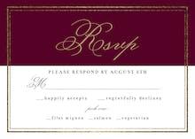 Classy Wedding - RSVP card