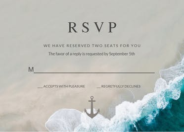 Deep Blue Sea - RSVP card