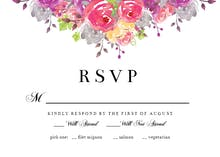 Dropping Florals - RSVP card