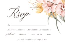 Dusty Pink Orchids - RSVP card